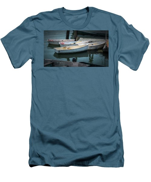 Men's T-Shirt (Athletic Fit) featuring the photograph Tied To The Pier by Guy Whiteley