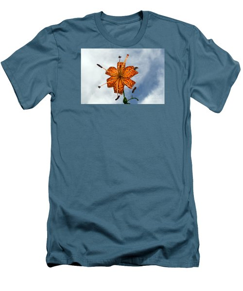 Tiger Lily In A Shower Men's T-Shirt (Slim Fit) by Kevin Fortier