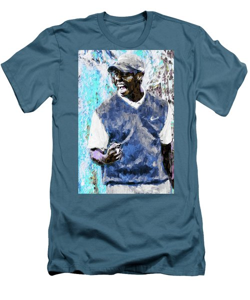 Men's T-Shirt (Slim Fit) featuring the photograph Tiger Says Digital Painting Golf by David Haskett