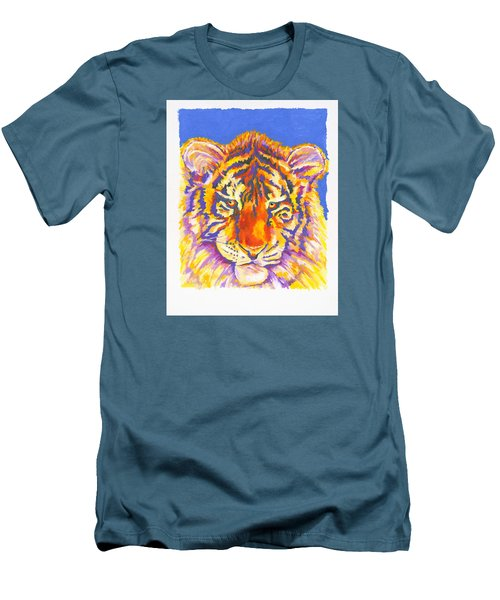 Men's T-Shirt (Slim Fit) featuring the painting Tiger by Stephen Anderson
