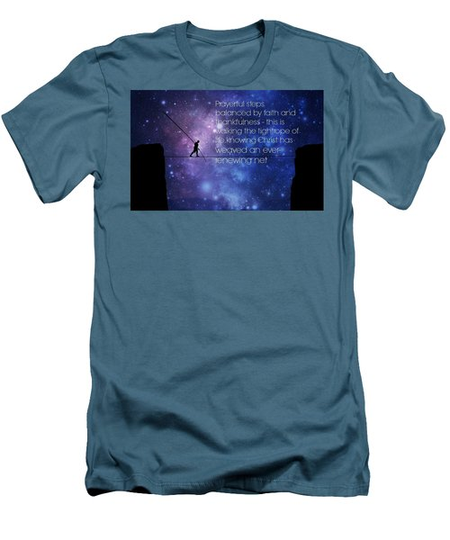Tightrope Of Life Men's T-Shirt (Slim Fit) by David Norman