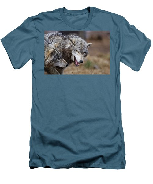 Men's T-Shirt (Slim Fit) featuring the photograph Timber Wolves by Michael Cummings