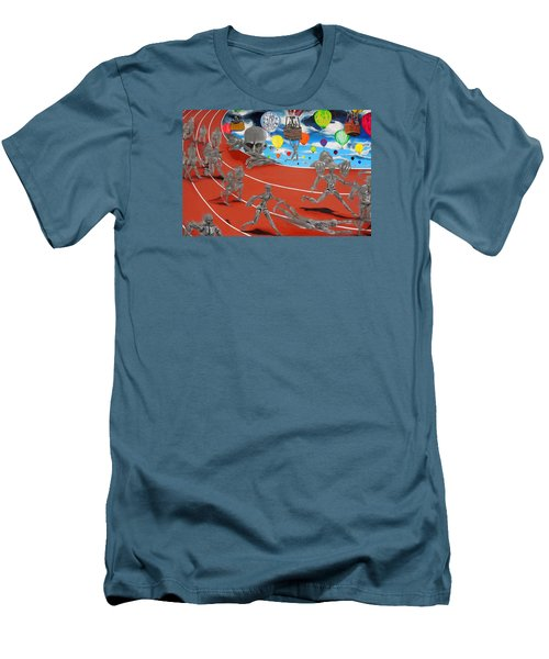 Time Is Moving Men's T-Shirt (Slim Fit) by Raymond Perez