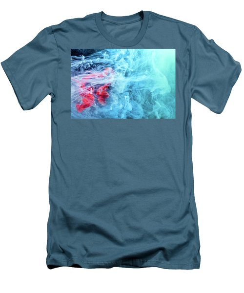 Time Travel - Blue Abstract Photography Men's T-Shirt (Slim Fit) by Modern Art Prints