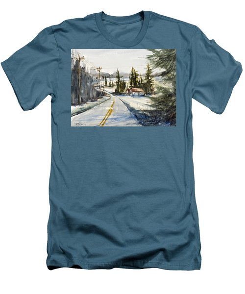 Tin Roof Rusted Men's T-Shirt (Slim Fit) by Judith Levins