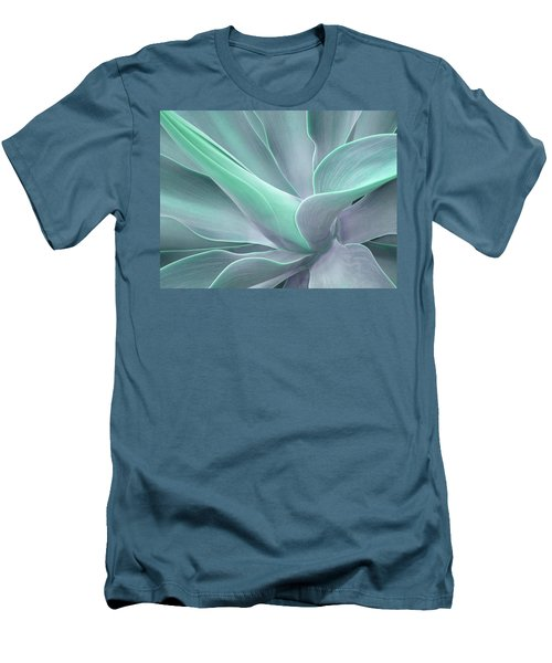 Tinted Agave Attenuata Abstract Men's T-Shirt (Athletic Fit)