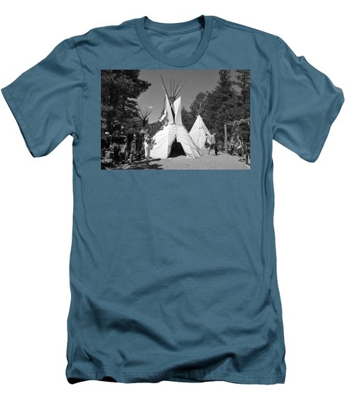 Tipis In Black Hills Men's T-Shirt (Athletic Fit)