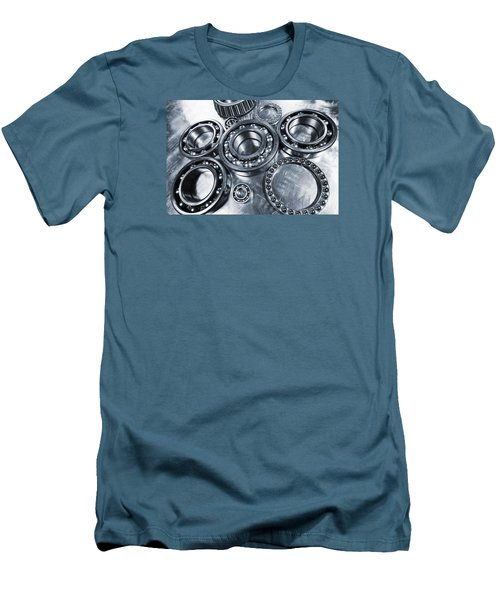 Titanium And Steel Ball-bearings Men's T-Shirt (Athletic Fit)