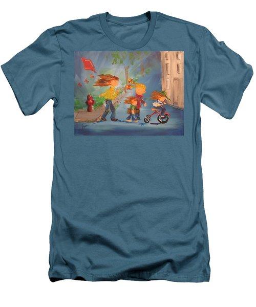 To The Park Men's T-Shirt (Slim Fit) by Terri Einer