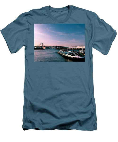 To The Space From Sea Men's T-Shirt (Slim Fit) by Momoko Sano