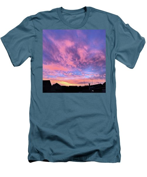Tonight's Sunset Over Tesco :) #view Men's T-Shirt (Athletic Fit)