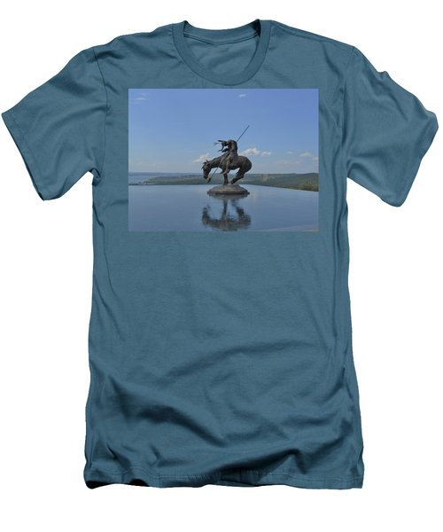 Top Of The Rock Infinity Pool Men's T-Shirt (Slim Fit) by Julie Grace