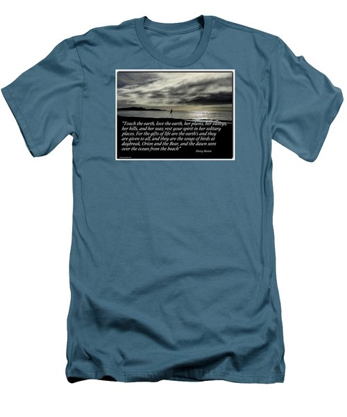 Touch The Earth Men's T-Shirt (Slim Fit)