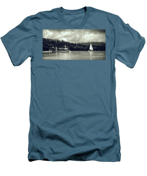 Touring The Lakes In Sepia Men's T-Shirt (Athletic Fit)