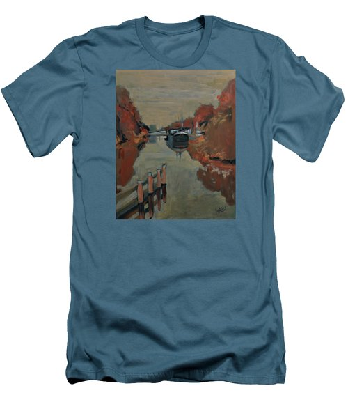 Men's T-Shirt (Slim Fit) featuring the painting Towards Pius Harbour by Nop Briex