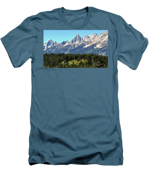 Towering Teton Range  Men's T-Shirt (Athletic Fit)