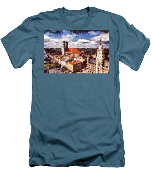 Town Hall. Munich Men's T-Shirt (Slim Fit) by Sergey Simanovsky
