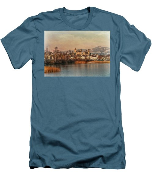 Men's T-Shirt (Athletic Fit) featuring the photograph Town Of Roses by Hanny Heim