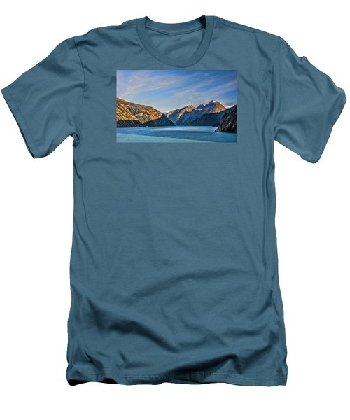 Tracy Arm Fjord  Men's T-Shirt (Slim Fit) by Lewis Mann