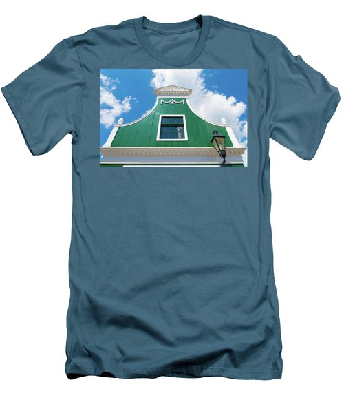 Men's T-Shirt (Slim Fit) featuring the photograph Traditional Dutch House by Hans Engbers