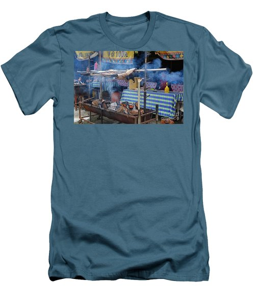 Traditional Market In Taiwan Native Village Men's T-Shirt (Slim Fit)