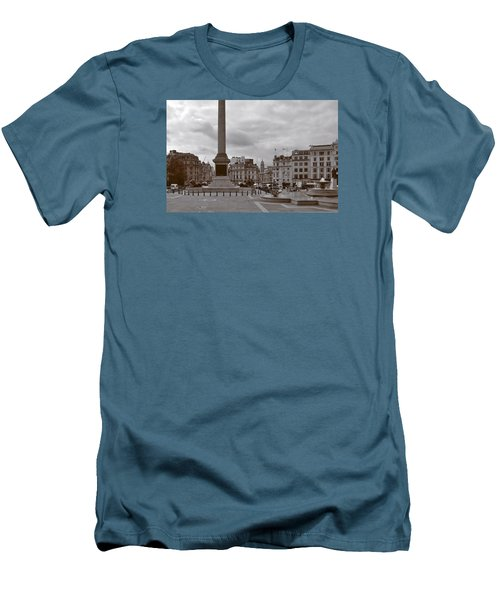 Men's T-Shirt (Slim Fit) featuring the photograph Trafalgar Square Sunday Morning by Nop Briex