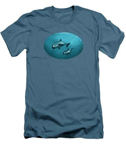 Treacherous Waters Vaquita Porpoise Men's T-Shirt (Slim Fit) by Amber Marine