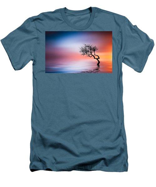 Tree At Lake Men's T-Shirt (Slim Fit) by Bess Hamiti