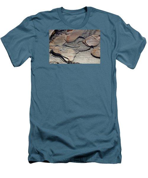 Men's T-Shirt (Slim Fit) featuring the photograph Tree Bark 2 by Jean Bernard Roussilhe