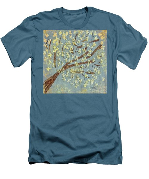 Men's T-Shirt (Athletic Fit) featuring the digital art Tree Blossoms by Lois Bryan