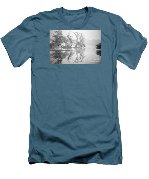 Tree In A Lake Men's T-Shirt (Slim Fit) by Pravine Chester