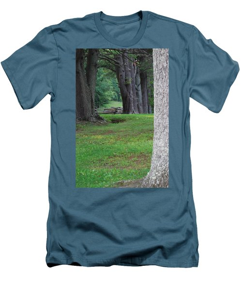 Men's T-Shirt (Slim Fit) featuring the photograph Tree Line by Eric Liller