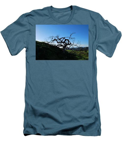 Men's T-Shirt (Athletic Fit) featuring the photograph Tree Of Light - Landscape by Matt Harang