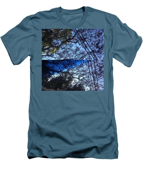 Men's T-Shirt (Slim Fit) featuring the photograph Tree Symphony by Nora Boghossian