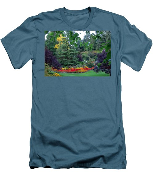 Trees And Flowers Men's T-Shirt (Slim Fit) by Betty Buller Whitehead