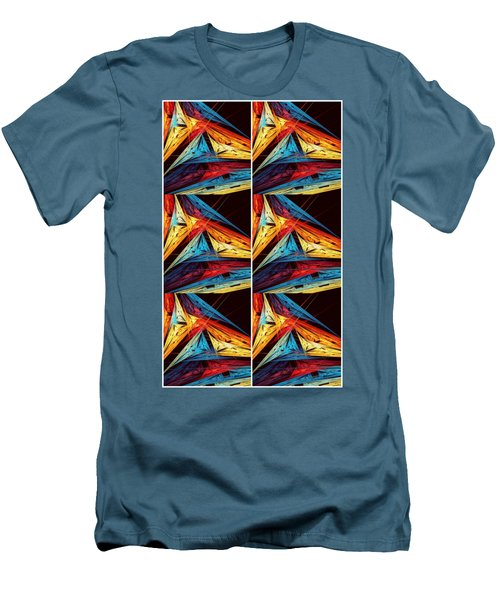 Triangle Decor Abstract Art Men's T-Shirt (Athletic Fit)