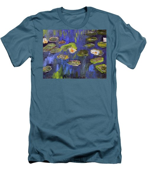 Tribute To Monet Men's T-Shirt (Slim Fit) by Michael Helfen