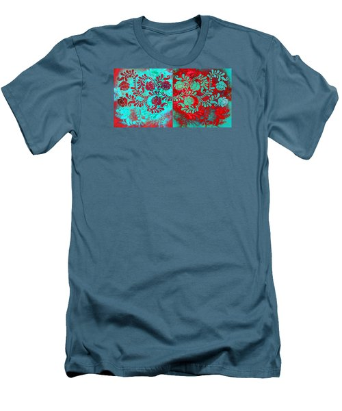 Men's T-Shirt (Slim Fit) featuring the digital art Trip The Night Fantastic Together by Angelina Vick