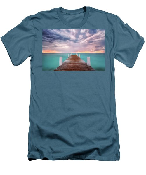 Tropical Drama Men's T-Shirt (Slim Fit) by Nicki Frates