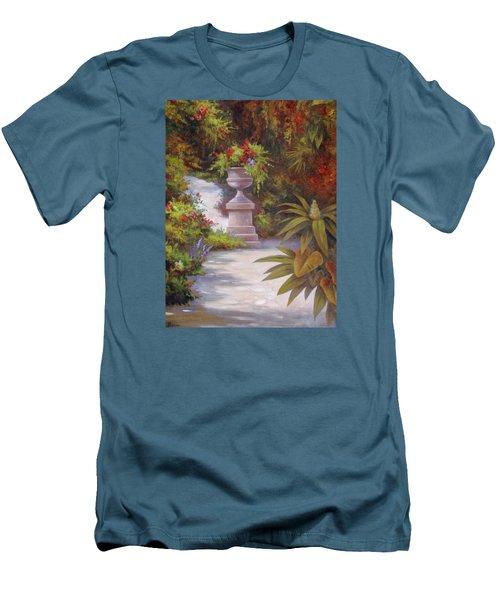 Tropical Garden Men's T-Shirt (Slim Fit) by Vivien Rhyan