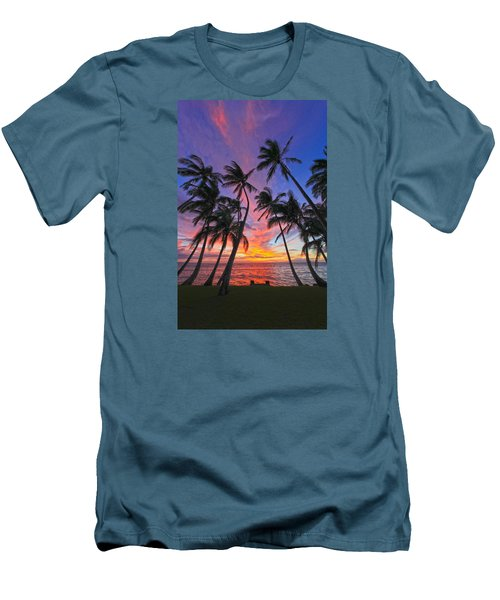 Tropical Nights Men's T-Shirt (Slim Fit) by James Roemmling