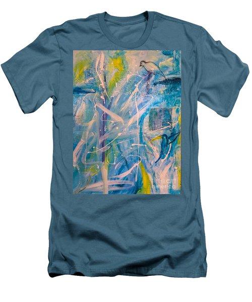 Tropicana Bird 02 Men's T-Shirt (Slim Fit) by Gallery Messina