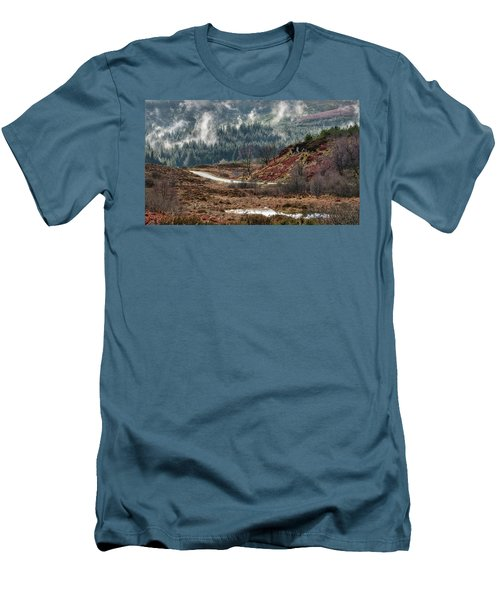 Men's T-Shirt (Athletic Fit) featuring the photograph Trossachs National Park In Scotland by Jeremy Lavender Photography