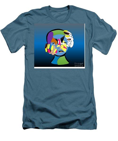 Troubled Men's T-Shirt (Slim Fit) by Belinda Threeths