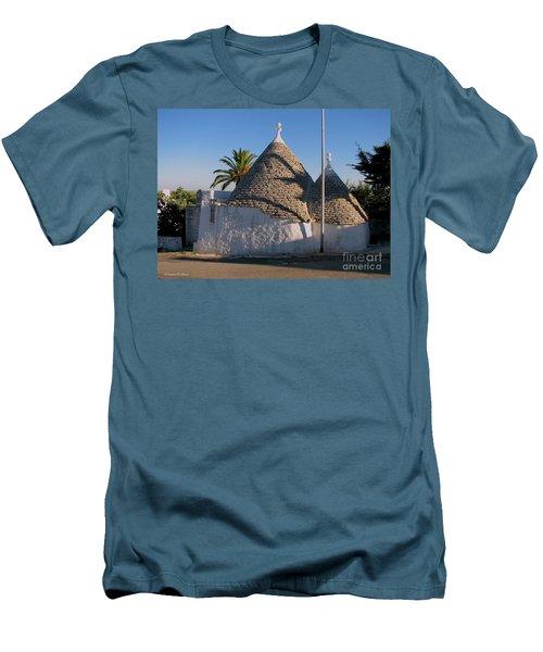 Trullo, Puglia Men's T-Shirt (Athletic Fit)