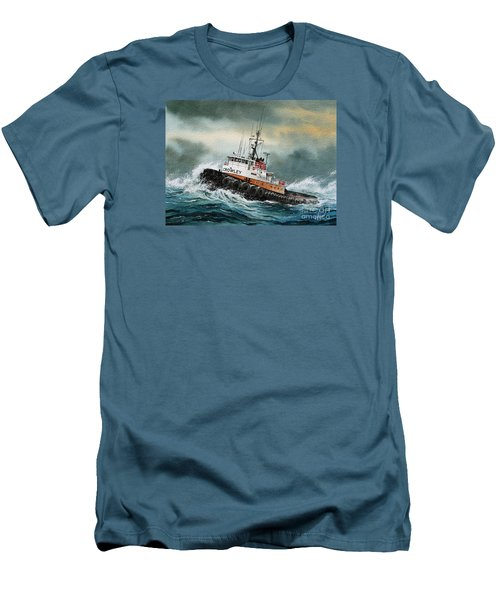 Tugboat Hunter Crowley Men's T-Shirt (Slim Fit) by James Williamson