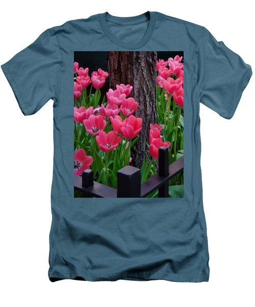 Tulips And Tree Men's T-Shirt (Slim Fit) by Mike Nellums