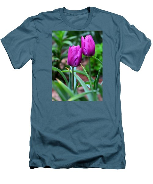 Tulips Men's T-Shirt (Slim Fit) by Kathy Eickenberg