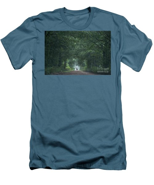 Tunnel Of Trees Men's T-Shirt (Athletic Fit)