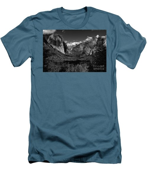 Tunnel View Black And White  Men's T-Shirt (Athletic Fit)